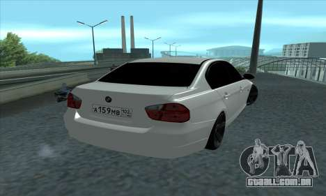 BMW 325i E90 para GTA San Andreas esquerda vista