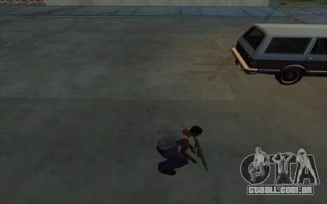 A posse de armas para GTA San Andreas por diante tela