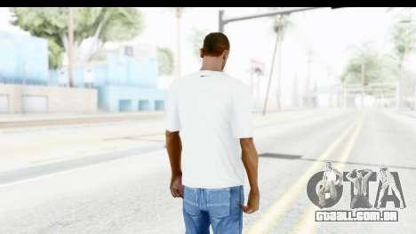 Nike Kyrie Notebook T-Shirt para GTA San Andreas terceira tela