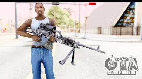M240 FSK para GTA San Andreas terceira tela