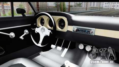 Ford Falcon Sprint para GTA San Andreas vista interior