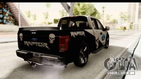 Ford F-150 Tuning para GTA San Andreas traseira esquerda vista