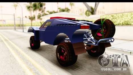 GTA 5 Desert Raid SA Lights para GTA San Andreas traseira esquerda vista