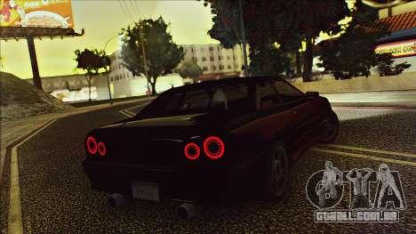 Elegy Drophead para GTA San Andreas vista traseira