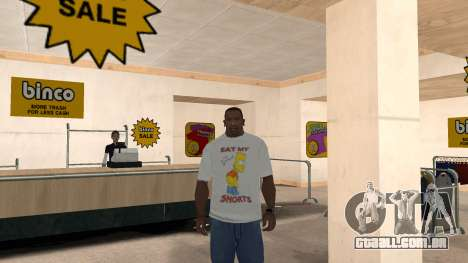 Bart Simpson T-Shirt para GTA San Andreas