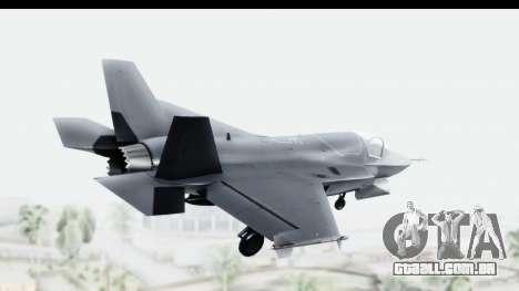 Lockheed Martin F-35B Lightning II para GTA San Andreas esquerda vista