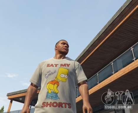 GTA 5 Bart Simpson T-Shirt for GTA V terceiro screenshot