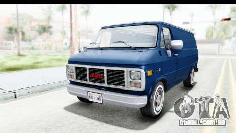 GMC Vandura 1985 White Stripes HQLM para GTA San Andreas