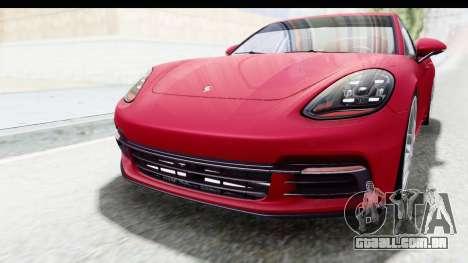 Porsche Panamera 4S 2017 v2 para GTA San Andreas vista superior