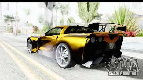 NFS Carbon Chevrolet Corvette para GTA San Andreas esquerda vista