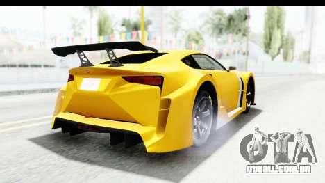 GTA 5 Emperor ETR1 v2 SA Lights para GTA San Andreas vista traseira