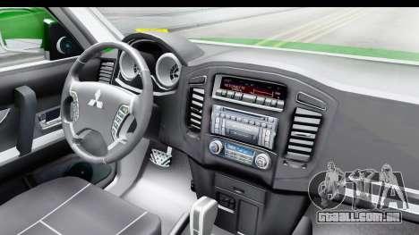 Mitsubishi Montero Carabineros Seção SIAT para GTA San Andreas vista interior