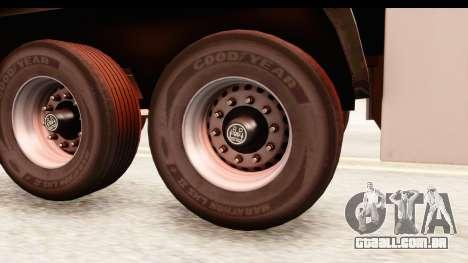 Trailer ETS2 v2 New Skin 2 para GTA San Andreas vista traseira