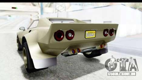 GTA 5 Lampadati Tropos Rallye IVF para GTA San Andreas vista inferior