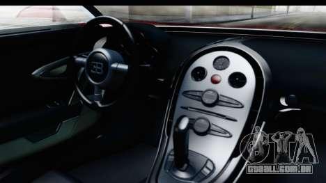 Bugatti Chiron 2017 v2 para GTA San Andreas vista interior