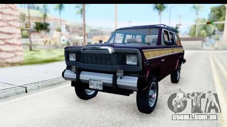 Jeep Grand Wagoneer para GTA San Andreas vista direita