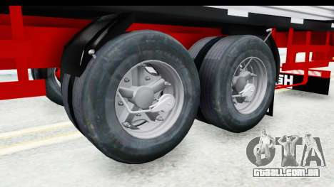 Trailer with Axle para GTA San Andreas vista traseira