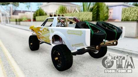 GTA 5 Trophy Truck SA Lights para GTA San Andreas vista superior