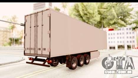Trailer ETS2 v2 New Skin 2 para GTA San Andreas traseira esquerda vista