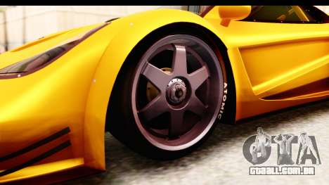 GTA 5 Progen Tyrus SA Style para GTA San Andreas vista interior