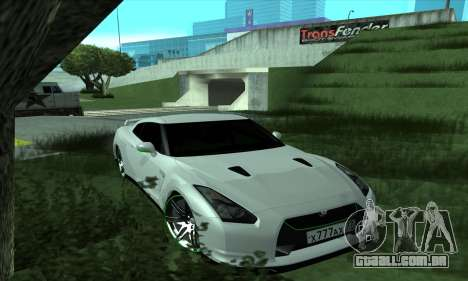 Nissan GT-R R35 Green Screen para GTA San Andreas
