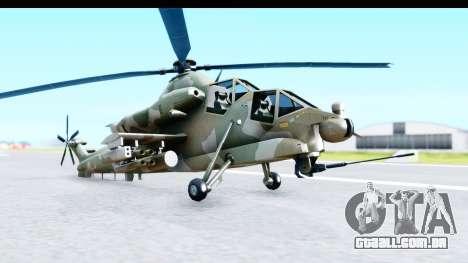Denel AH-2 Rooivalk para GTA San Andreas vista direita