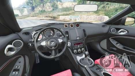 GTA 5 Nissan 370Z Nismo Z34 2016 [replace] frente vista lateral direita