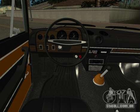 VAZ 2103 arménio para GTA San Andreas vista inferior