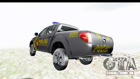 Mitsubishi L200 Indonesian Police para GTA San Andreas traseira esquerda vista