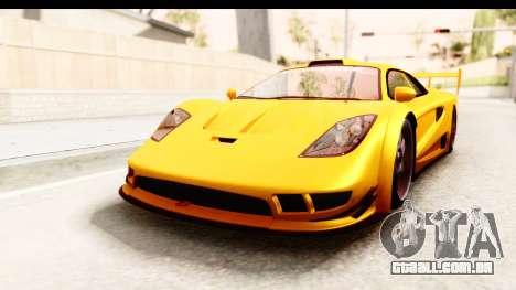 GTA 5 Progen Tyrus SA Style para GTA San Andreas vista traseira
