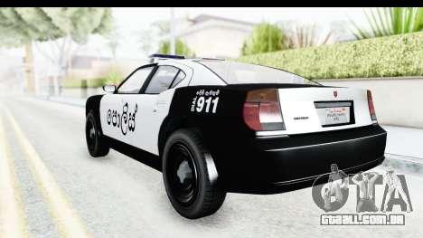 Sri Lanka Police Car v2 para GTA San Andreas vista direita