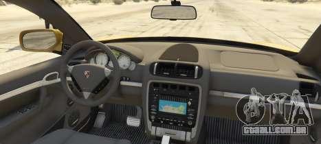 GTA 5 Porsche Cayenne Turbo 2010 traseira vista lateral esquerda