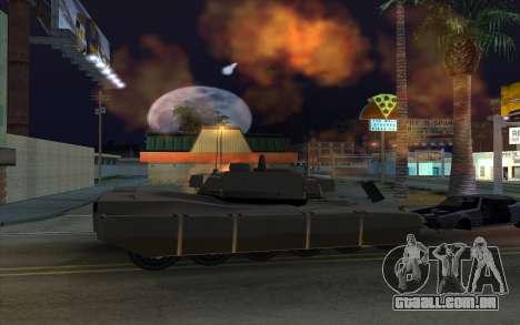 O efeito de disparo de tanque para GTA San Andreas por diante tela