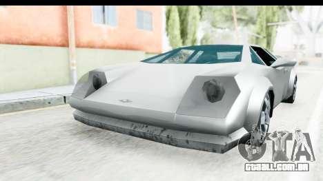 VCS Infernus para GTA San Andreas traseira esquerda vista