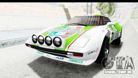 GTA 5 Lampadati Tropos SA Lights para GTA San Andreas vista inferior