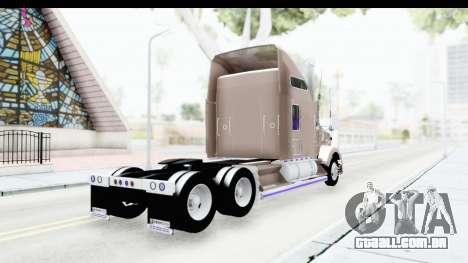 Kenworth T800 Centenario Studio Sleeper Toys para GTA San Andreas esquerda vista