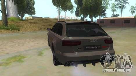Audi RS6-R para GTA San Andreas traseira esquerda vista