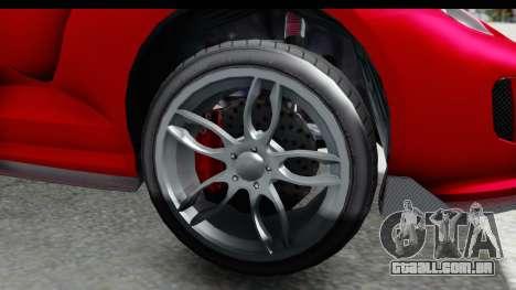 GTA 5 Grotti Bestia GTS with MipMap IVF para GTA San Andreas vista traseira