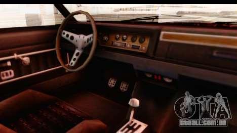 GTA 5 Albany Emperor IVF para GTA San Andreas vista interior