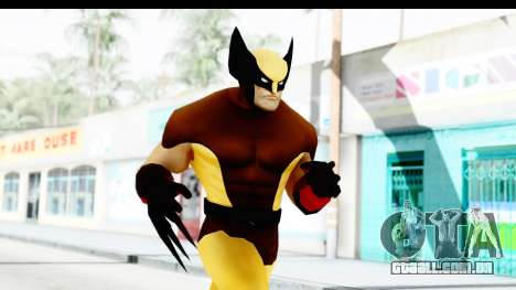 Marvel Heroes - Wolverine Brown para GTA San Andreas