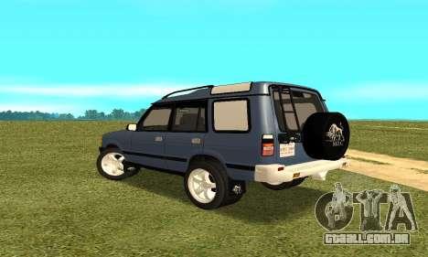 Land Rover Discovery 2B para GTA San Andreas traseira esquerda vista