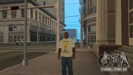 Bart Simpson T-Shirt para GTA San Andreas terceira tela