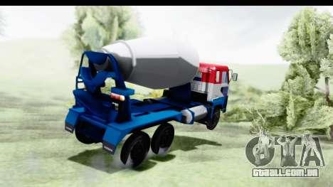 Nissan Diesel UD Big Thumb Cement Babena para GTA San Andreas esquerda vista