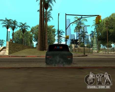 VAZ 2101 Armenian para GTA San Andreas vista traseira