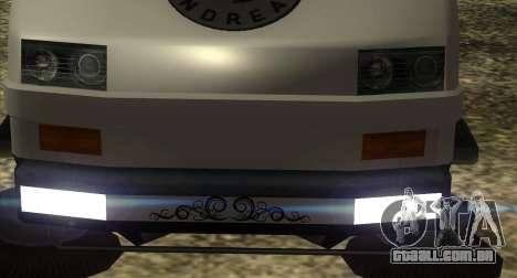 New Sweeper IVF para GTA San Andreas traseira esquerda vista