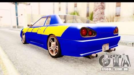 NFSU2 Tutorial Skyline Paintjob for Elegy para GTA San Andreas esquerda vista