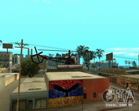 Grove Street Armenian Flag para GTA San Andreas por diante tela
