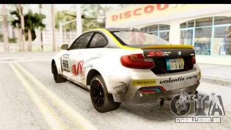 BMW M235i Coupe para GTA San Andreas esquerda vista