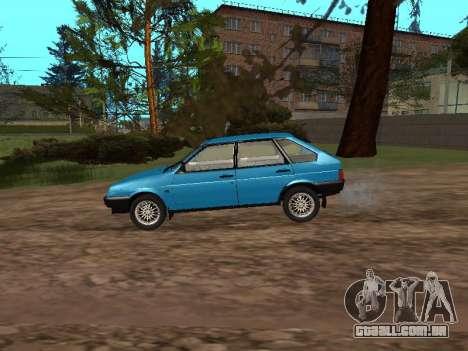 VAZ 2109 com rodas de liga para GTA San Andreas esquerda vista