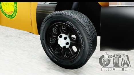 Chevrolet Silvedaro Basarnas para GTA San Andreas vista traseira